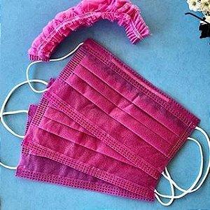 Máscara Descartável Pink c/ 100un - Dejamaro