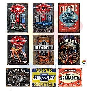 Placas Decorativas Motor Harley Davidson