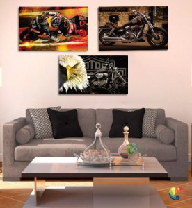 Placas Decorativas Motos
