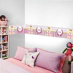Faixa Decorativa Ursinha com espaço para Nome