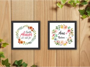 Quadro Decorativo Ame + Reclame - Espalhe Amor