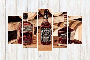 Quadro 5 Peças Jack Daniel's Bebidas