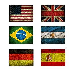 Placas Decorativas Bandeiras