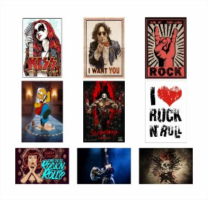 Placas Decorativas Rock