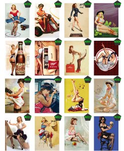 Placas Decorativas Pin-up