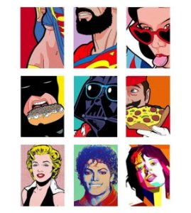 Placas Decorativas Pop Art