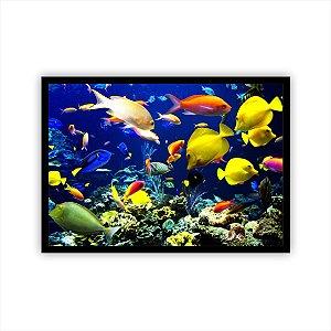 Quadro Decorativo Fundo do Mar Peixes