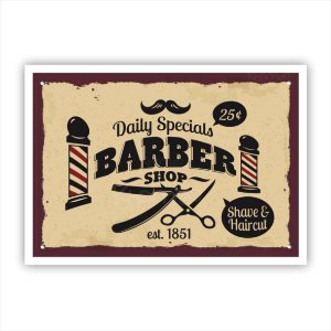 Quadro decorativo Barbearia