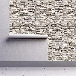 Papel De Parede Estilo Pedras Brancas 3D