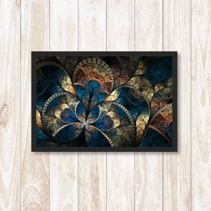 Quadro Com Moldura Art Mosaic Abstract Psychedelic