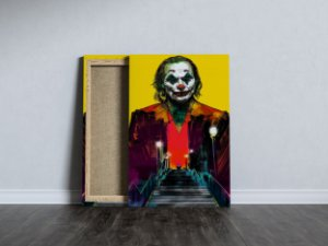 Quadro Coringa Joker Colors Filme 2019 Tecido Canvas 40x60
