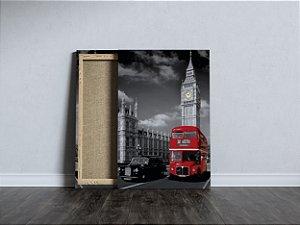 Quadro Ônibus Vermelho Londres Routemaster Canvas