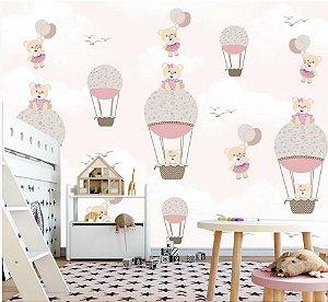Papel de parede Ursinha Balões 2,40 x 2,50 metros