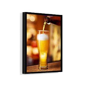 Quadro Decorativo Com Moldura Bar Cerveja Chopp Puro Malte