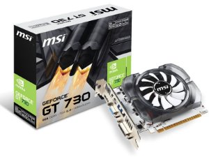 PLACA DE VÍDEO GEFORCE MSI GT MAINSTREAM NVIDIA 912-V809-2261 GT 730 2GB DDR3 128BIT 1800MHZ DVI HDMI VGA