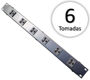 REGUA RACK 6 TOMADAS