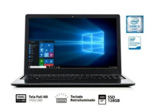 NOTEBOOK VAIO CORE I3-6006U 4GB 128GB SSD 15.6 FULLHD TECLADO RETROILUMINADO WIN10