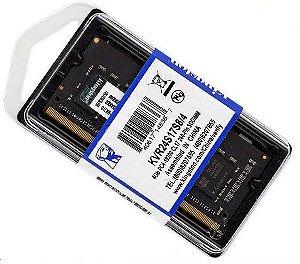 MEMORIA DDR4 4GB 2400MHZ SODIMM- KVR24S17S8/4 KINGSTON