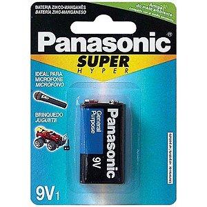 PILHA PANASONIC SUPER HYPER 9V