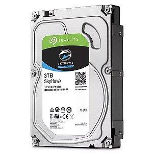 UNIDADE DE DISCO HD 3TB SKYHAWK SEAGATE PARA CFTV 5900RPM 64MB CACHE 6GB/S
