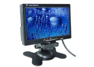 "MONITOR CFTV AUTOMOTIVO 7"" 800*480TFT LCD STAND ALONE"