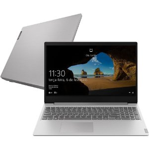"Notebook Lenovo Ideapad S145 Intel Dual, 4GB  SSD 128GB, TELA 15,6"" - Prata"