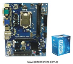 Kit Upgrade Placa Mãe 1151 H310 PRÓ DDR4 + INTEL DUAL CORE G4900 8TH