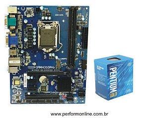 Kit Upgrade Placa Mãe 1151 H310 PRÓ DDR4 + INTEL PENTIUN GOLD G5400 8TH