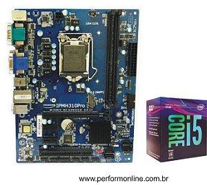 Kit Upgrade Placa Mãe 1151 H310 PRO DDR4 (HDMI,VGA,DVI, 1 SERIAL, LPT1 INTERNA, 4 USB 2.0, 2 USB 3.0, 4 SATA,Slot M.2 SSD 32GB/S)  + INTEL CORE I5 8400 8TH