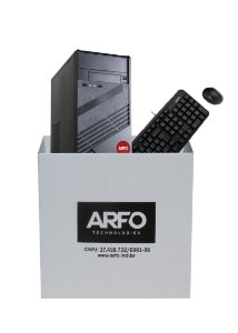 KIT BAREBONE ARFO 2 BAIAS 2B01 COM GABINETE, FONTE 200W, TECLADO KB-3628 E MOUSE USB MO-K133