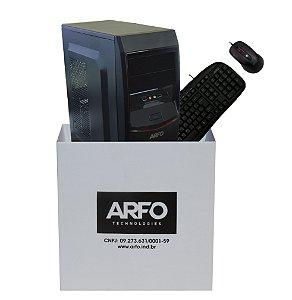 KIT BAREBONE ARFO 4 BAIAS 4B01 COM GABINETE, FONTE 200W, TECLADO E MOUSE USB