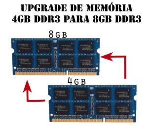 Upgrade de Memória sodimm 4Gb DDR3 Para Memoria 8Gb DDR3, (Mini PC Industrial Arfo, Notes, All In One AR-1910,  Micros All in One, Utratops  J3060/J1900)