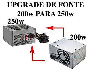 Upgrade De Fonte 200w Para 250w ideal para i5 E i7