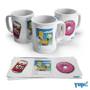 Caneca BART-HOMER SIMPSON - 325ml