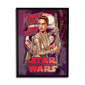 Quadro Star Wars - Rey