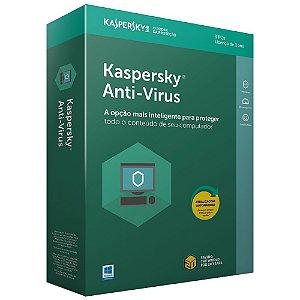Kaspersky Anti-Vírus 2018 - Licença - 03 PCs - 01 Ano