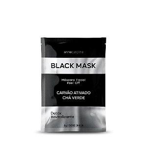 Anne Caroline Black Mask Máscara Facial Peel Off Carvão Ativado 8g