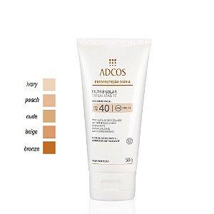 Adcos Filtro Solar Tonalizante Gel Creme Peach FPS40 50g
