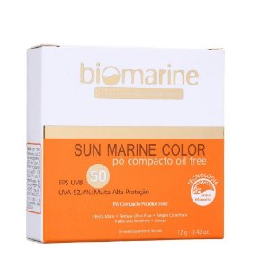 Biomarine Sun Marine Color Pó Compacto FPS50 Natural 12g