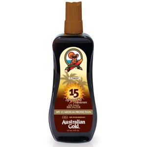 Australian Gold Spf 15 Instant Bronzer Spray Gel 237ml