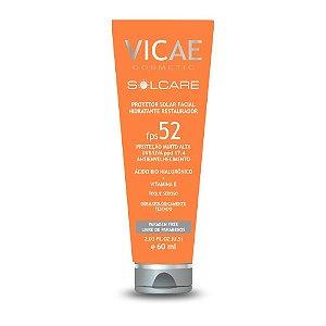 Vicae Solcare Protetor Solar Facial FPS52 60ml