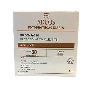 Adcos Filtro Solar Tonalizante  FPS50 pó compacto 11g Nude