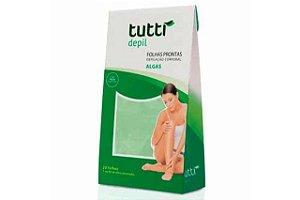 Tutti Depil Folhas Prontas Depilação Corpo Algas 20 Folhas