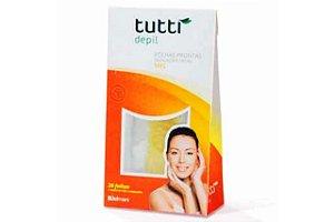Tutti Depil Folhas Prontas Depilação Facial Mel 20 Folhas