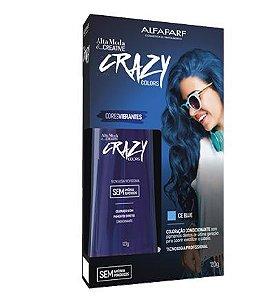 Alta Moda Creative Crazy Color Ice Blue Tonalizante Azul 120g