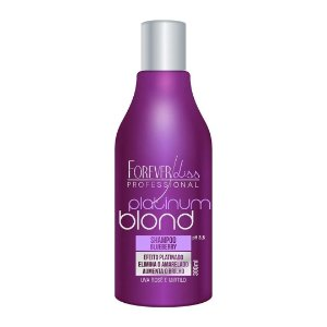 Forever Liss Shampoo Platinum Blond Matizador Blueberry 300ml