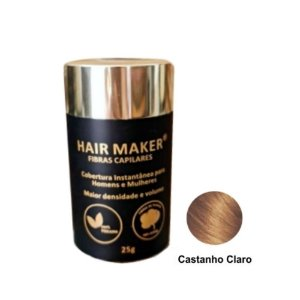 Hair Maker Fibras Capilares Castanho Claro 25g