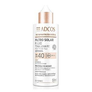 Adcos Filtro Solar Tonalizante FPS 40 Fluid Ebony 50ml