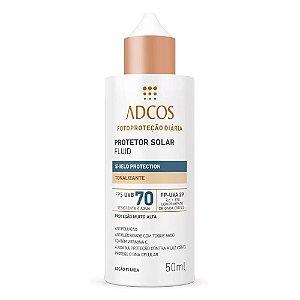 Adcos Fotoproteção Filtro Solar Fluid Tonalizante Fps70 50ml
