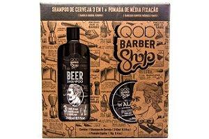 QOD Kit Xampu Beer E Pomada Walk 240ml